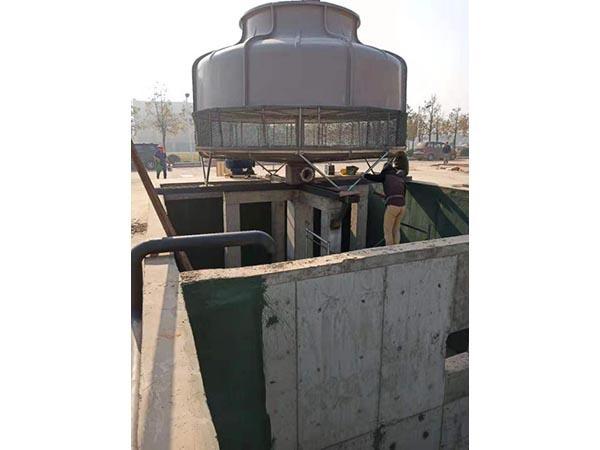 圆形逆流式玻璃钢冷却塔350T1台
